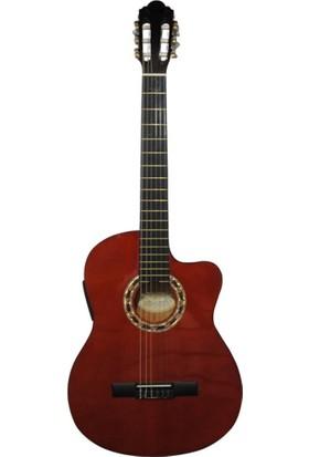 Carissa CG - 200 Sce Nat Ince Kasa Elektro Klasik Gitar