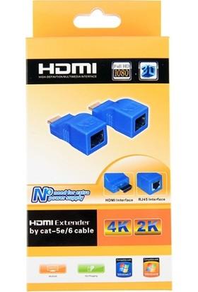 Ally HDMI Extender 4K 3D RJ45 Cat6 ile 30M HDMI Uzatıcı AL-31912