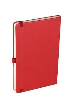 Termo Suni Deri Kapak Çizgili Not Defteri 13 x 21 cm Kırmızı