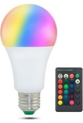LED Pazarı Kumandalı Renkli Ampul 16 Renk