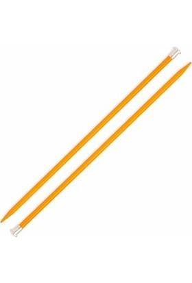 Sultan 5 No 35 cm Sarı Renkli Metal Örgü Şişi