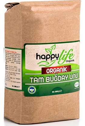Happy Life Organik Tam Buğday Unu 1 kg