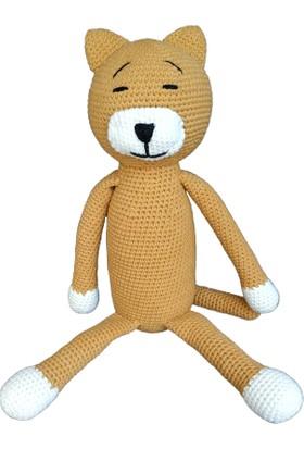 ÖRBİ Kedi Maxi Boy Amigurumi Oyuncak (35 cm)