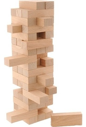 Adenim Toys 57 Parça Doğal Ahşap Denge Oyunu Büyük Boy