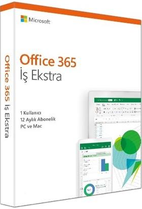 Microsoft Ms Office 365 İş Ekstra Türkçe Kutu 1 Yıl 1 Kullanıcı KLQ-00437