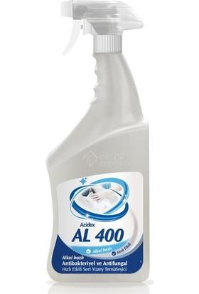 Acidex Al 400 %60 Alkol Bazlı Yüzey ve Ekipman Dezenfektanı 800 ml