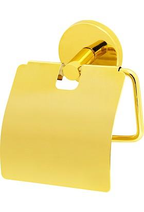 Mabello Altın Tuvalet Kağıtlığı Kapaklı Paslanmaz