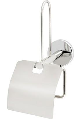 Mabello Yedekli Tuvalet Kağıtlığı Telli Kapaklı Paslanmaz