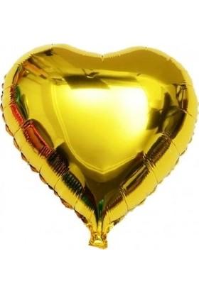 Pera Balon Kalp Folyo Balon Altın