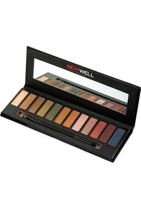 New well Eyeshadow Palette 42 Brown Tones 12 Colours- Far Paleti
