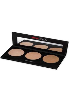 New Well Highlighter Palette - 3 Colours- Aydınlatıcı 3 Renk