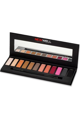Newwell Eyeshadow Palette 41 Pink Tones 12 Colours Far Paleti 12