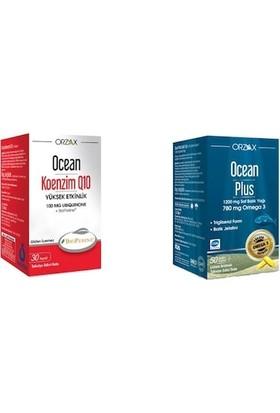 Ocean Koenzim Q10 30KP. ve Ocean Plus 1200 Mg 50KP. 2'li Paket
