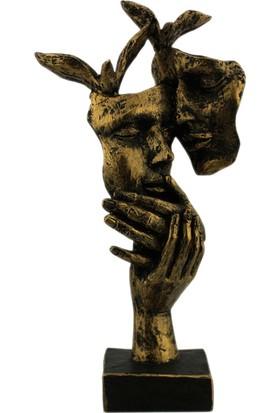 Hunga Kuşlu Sevgi Mask Biblo Altın