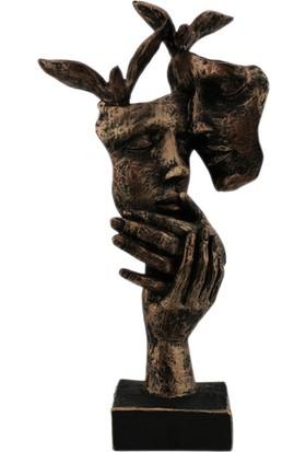 Hunga Kuşlu Sevgi Mask Biblo Bronz