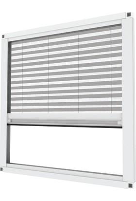 A Tasarım Pileli Plise Sürgülü Sineklik Sistemi Beyaz 00 x 60 cm - 00 x 160 cm