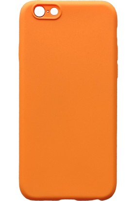 mTnCover Apple Apple iPhone 7 Soft Silikon Kılıf Turuncu