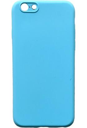 mTnCover Apple Apple iPhone 8 Plus Soft Silikon Kılıf Açık Mavi