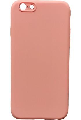mTnCover Apple Apple iPhone 6 Soft Silikon Kılıf Pudra