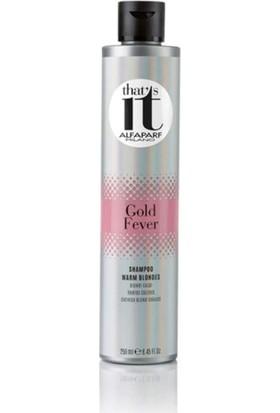Alfaparf That's It Gold Fever - Sıcak Sarılar İçin Şampuan