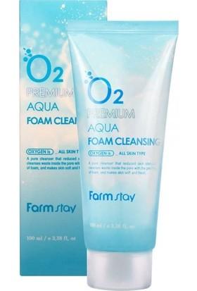 Farmstay O2 Premium Aqua Foam Cleansing - Oksijenli Yüz Yıkama Köpüğü 100ml