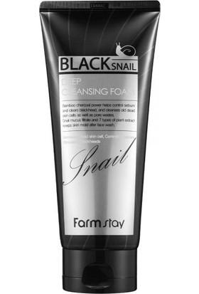 Farmstay Black Snail Deep Cleasing Foam - Siyah Salyangoz Yüz Temizleme Köpüğü 180 ml