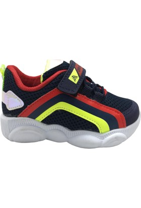 Alessio 089 Erkek Çocuk Spor Ayakkabı Lacivert Kırmızı