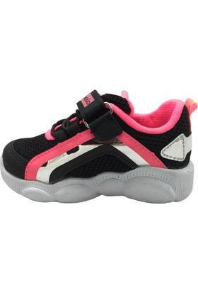 Alessio 089 Kız Çocuk Spor Ayakkabı Siyah Pembe