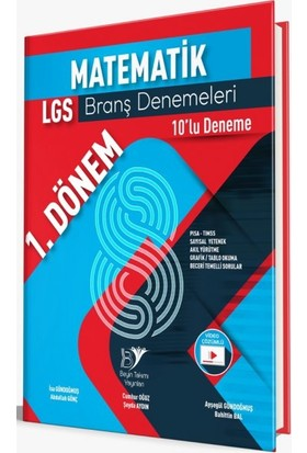 Beyin Takımı Yayınları 8. Sınıf LGS 1. Dönem Matematik 10'lu Branş Denemeleri