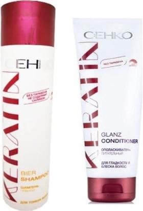 Cehko Keratin Buğday Şampuanı 250 Ml+Keratin Parlatıcı Saç Kremi 200 ml