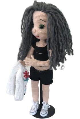 BK Store Amigurumi Organik El Örmesi Bebek - Sportif Kız