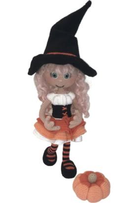 BK Store Amigurumi Organik El Örmesi Bebek - Tatlı Cadı