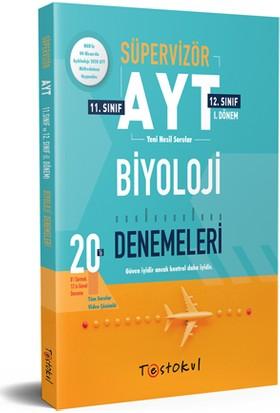 Test Okul Yayınları Süpervizör AYT Biyoloji Denemeleri 20 Li 8 Sarmal 12 Genel Deneme 11 ve 12.sınıf 1.Dönem