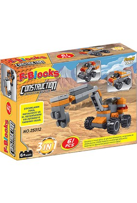 Furkan Toys F-Blocks İnşaat Seri 61 Parça