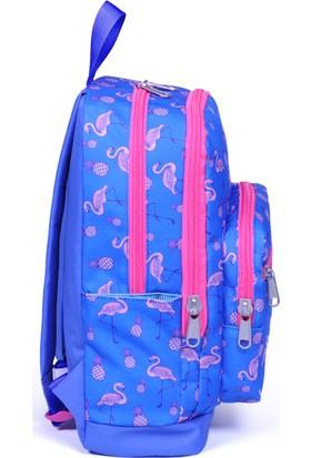 Öykü Flamingo Desen Okul Çantası Günlük Seyahat Sırt Çantası