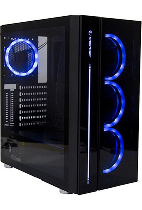 Rampage Scout 600W 80 Plus 4 x RGB Fan & Control Tempered Glass Oyuncu Kasası