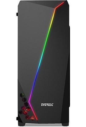 Everest X-line Rainbow Fan + RGB Şerit USB 3.0 Oyuncu Kasası