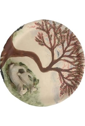Alla Ceramics Erguvan Altında Kuzu & Koyun