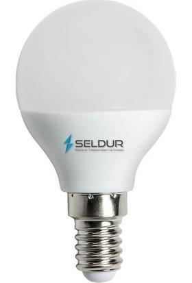 Seldur 5 W 400LM E-14 Duy 6500K Beyaz Işık Mini Top LED Ampul