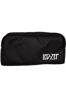 Led-Zep Çift Gözlü Kalem Cüzdanı Siyah