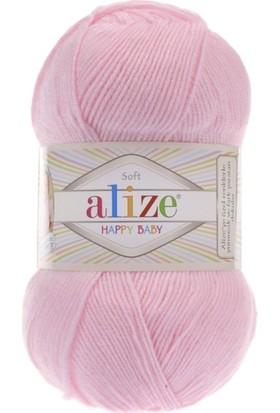 Alize Happy Baby 2'li Paket 185 Örgü İpi Toz Pembe