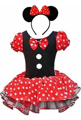 Kostümce Minnie Mouse Kostümü Kız Çocuk