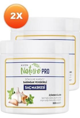 Avon Nature Pro Sarımsak ve Kekikli Saç Maskesi 500 ml 2'li Set