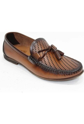Footmark Tpu 210 Taba Lazerli Antik Deri Ayakkabı