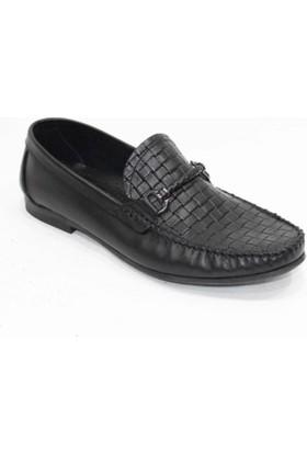 Footmark Tpu 200 Siyah Örgü Antik Deri Ayakkabı