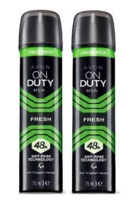 Avon On Duty Fresh Sıkıştırılmış Antiperspirant Deodorant 48 Saat - Erkek 75 ml Iki Adet