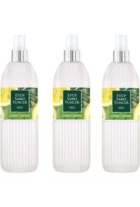 Eyüp Sabri Tuncer Çeşme Limonu 150 ml Sprey Kolonya - Pet Şişe 3 Adet