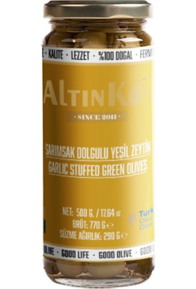 Altınköy Sarımsak Dolgulu Yeşil Zeytin 480 gr 4'lü Set