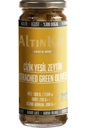 Altınköy Çizik Yeşil Zeytin 480 gr 4'lü Set