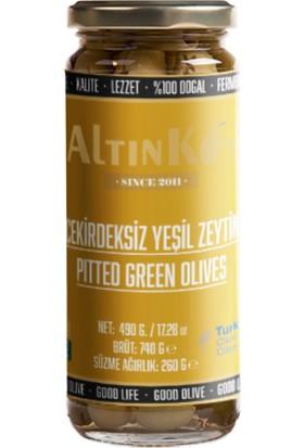 Altınköy Çekirdeksiz Yeşil Zeytin 470 gr 4'lü Set